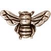 Bead Honey Bee Antique Silver